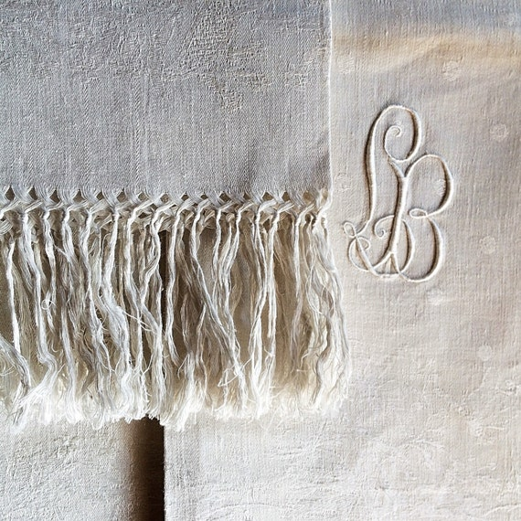Reproduction Vintage Bath Towels: French Antique Bath Towels. RARE French 19th C Linen Cloths