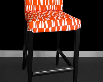 IKEA HENRIKSDAL Bar Stool Chair Cover - Sticks Orange