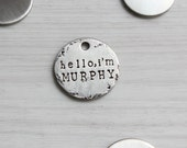 No.20 // Handcrafted Custom Dog Tag // Unique Pet Tag // Personalized Pet Tag