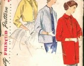 Great Vintage 1950s Simplicity 1451 Topper, Bolero  Jacket or Coat in 3 Lengths Sewing Pattern B36