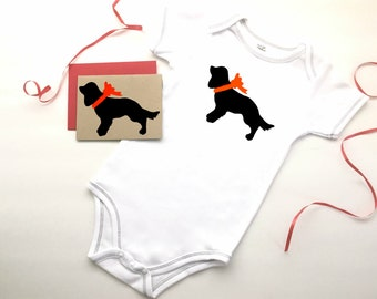 Cavalier King Charles Spaniel Baby Bodysuit Organic Infant Clothes % to ANIMAL RESCUE Clothing Eco Friendly Jumper Romper Dog 3-6 mo 9-12 mo