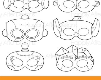 Robots Printable Coloring Masks, robot mask, bots mask, robot costume, robot print, printable mask, bots mask, boys, girls, costume, color