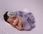 READY TO SHIP Baby Headband Mini Chiffon And Lace Flower Headband Newborn Photo Prop Available in Tons of Colors