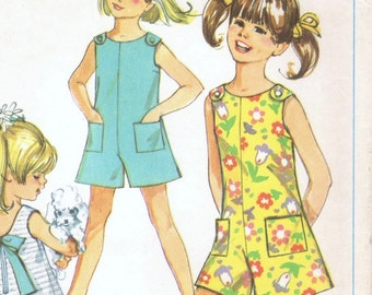 Vintage girl's playsuit pattern -- Simplicity 7708