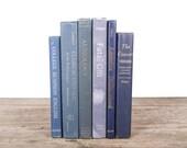 Antique Books / Vintage Mixed Book Set / Decorative Books Old Books / Vintage Books / Blue Books / Books by Color / Books for Decor