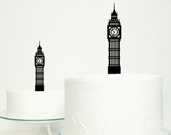 Big Ben Cake Topper - London England City Skyline Tower