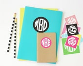Personalized Round Monogram Stickers Kids Name Labels Custom School Supplies Notebook Label Monogram Folder Stickers Back to School Labels