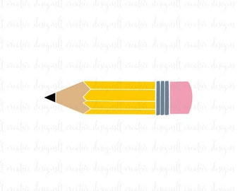 Pencil SVG, Pencil Monogram SVG, School SVG, Education Svg, Teacher Svg, Svg Files, Silhouette Files, Cricut Files