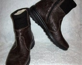 Vintage Ladies Brown Leather Fully LINED Snow Boots by Rieker Size 41 Only 28 USD
