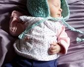 Crochet Baby Bonnet - The Audrey Bonnet - Choose Size and Color - Newborn Baby Hat - Photo Prop