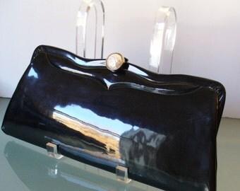 Vintage Patent Leather Clutch Bag