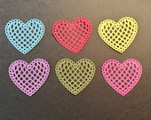 "Hearts - 6, Handmade, 1 3/4"", Colored, Die cuts, Sizzix, Scrapbooking, Cards"