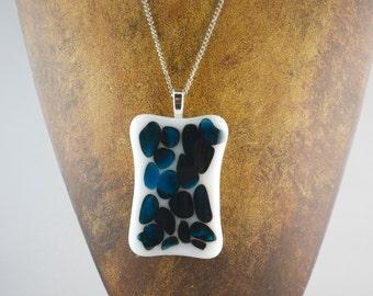 Fused Glass Necklace Pendant OOAK