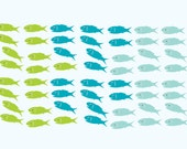 wall decals - fish decal - Vinyl wall decal - nursery decal - school of fish - sea animals - Under water decal