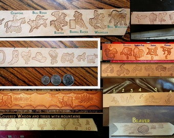 Stamps for design, Eagles,Fish,motorcycles and 4X4's,sailboats,Beaver,dogs, this is just some of the stamps we have