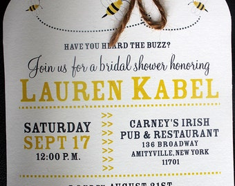 Mason Jar Invitation | Bridal Shower Invitation | Mason Jar Bridal Shower Invitation | Honey Bee Invitation