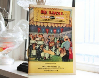 Vintage 1949 De Laval Year Book Almanac