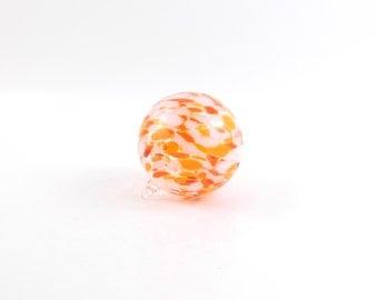 Orange Blown Glass Ornament - O15