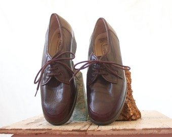 Vintage 70's German Raisin Oxfords