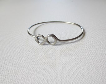 Eternity Bracelet , Stainless Steel Bicycle Spoke , Upcycled Bicycle Jewelry