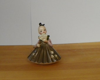 Vintage Japan Josef Original Wee Japanese Kabuki Series Ougi Doll Figurine Girl International Like Lefton