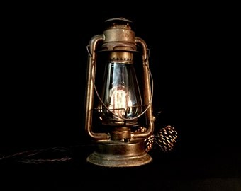 Rustic Lantern - Table Lamp - Lighting - Light