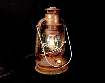 Table Lamp Lantern Rustic Vintage