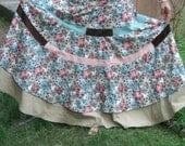 Handmade Hippie Patchwork Spring Blooms Sweeper Skirt