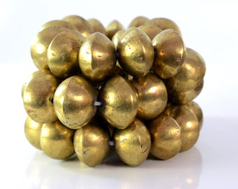 25 Mali large Brass bicone  Beads 19x26mm , African Brass Beads , Jewelry Making Supplies , Made in Mali