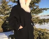 RESERVED for Olivia vintage eskimo parka with white fur trim -70s/80s