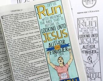 Bible Journaling Bible Verse Art Bible Verse Print great for faith journals Art Journal Runner winner prize faith Hebrews 12:1-2