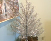 "Vintage Aluminum Christmas Tree 4 Foot ""Taper Tree"" Model 446 Included Box, Instruction and Branch Sleeves Vintage Tinsel Christmas Tree"