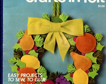 Vintage 1970's McCalls Christmas Crafts in Felt Pattern Booklet