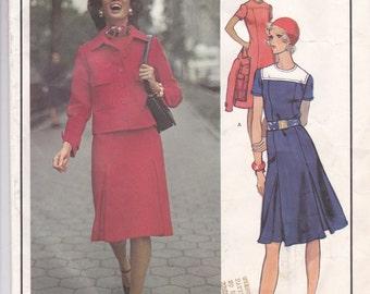 Molyneux A-Line Dress & Jacket Pattern Vogue Paris Original 2679 Size 12