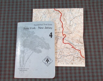 1977 Appalachian Trail Guide for New York - New Jersey - with Map