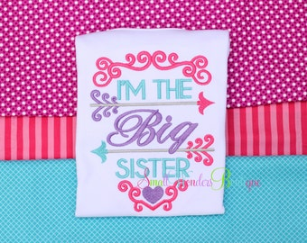 Big Sister Shirt - I Am The Big Sister Embroidered Shirt - Sibling Shirt - Big Sister Shirt - Only Child Expiring Shirt - Big Sister Tee
