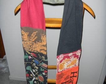 Autumn Harvest Upcycled T-Shirt Scarf