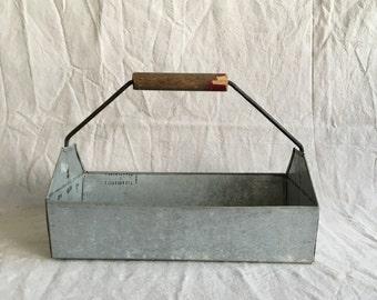 Vintage Galvanized Metal Carryall