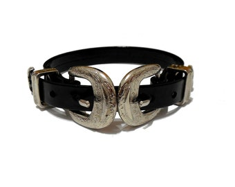 Double Filigree Buckle Choker