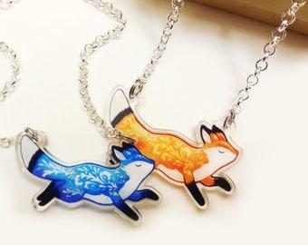 Fox necklace pendant pre- order -  Acrylic jewelry animal charm