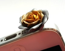Cell Phone Dust Plug. Floral Earphone Plug. iPhone4. iPhone5. iPhone6. iPad. Samsung. iPhone Accessories