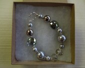 Gorgeous Gray and Silver Beaded Bracelet