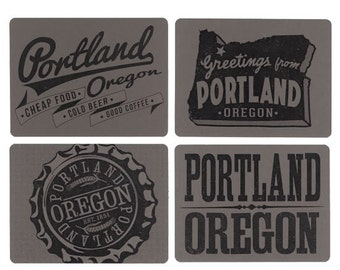 Portland Cards, PDX, Old Fonts, Beer Ads, Man Gifts