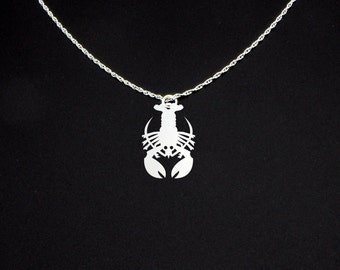 Lobster Necklace - Lobster Jewelry - Lobster Gift