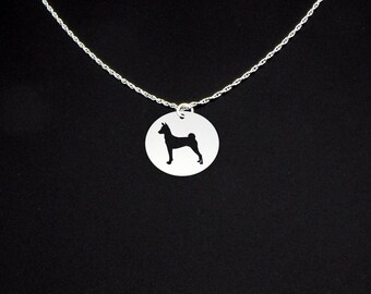 Basenji Necklace - Basenji Jewelry - Basenji Gift