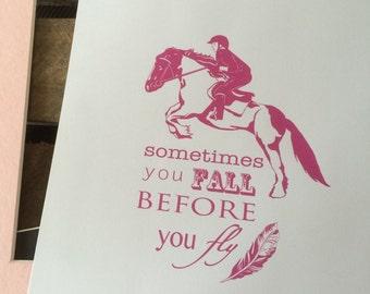 Show Jumping Horse Riding Art Print