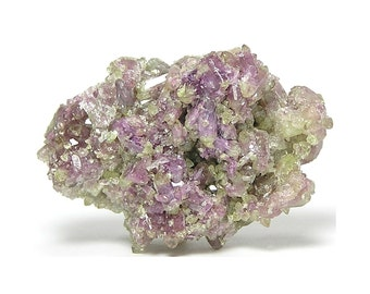 Vesuvianite Mangan Lilac and Green Idocrase Crystal Cluster,  Mineral Specimen,  Gemstone Nugget, Wear it or Display it