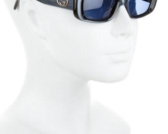 GUCCI Blue Lens 90s Rectangular / Square Thick Frame Geometric Vintage Zoolander Sunglasses