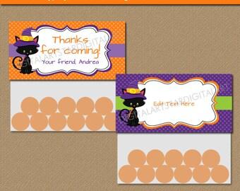 Kids Halloween Bag Toppers - Halloween Birthday Bag Toppers - Halloween Goodie Bag Labels - Halloween Treat Bags - Printable Bag Toppers