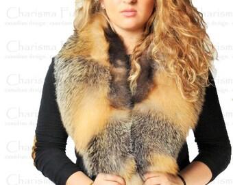 Canadian Cross Fox Fur Colar